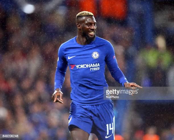 Chelsea's Tiemoue Bakayoko celebrates his goal during UEFA Champions League Group C match between Chelsea and FK Qarabag at Stanford Bridge London 12...