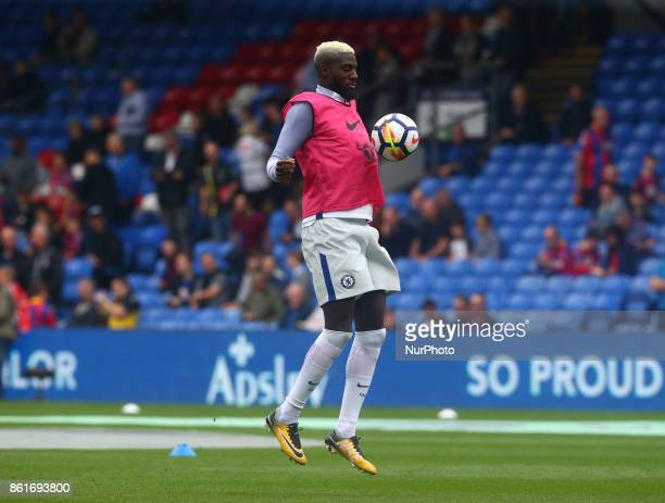 Chelsea's Tiemoue Bakayoko during the prematch warmup during Premier League match between Crystal Palace and Chelsea at Selhurst Park Stadium London...