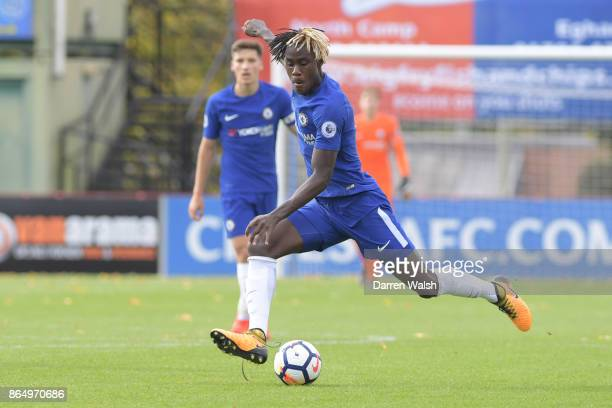 Chelsea's Trevoh Chalobah during the Premier League 2 match between Chelsea FC and West Ham Utd at Aldershot on October 22 2017 in London United...