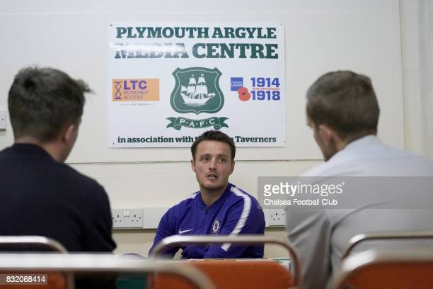 Chelseas U21 Coach Joe Edwards In The Postmatch Press Conference After Checkatrade Trophy Match At
