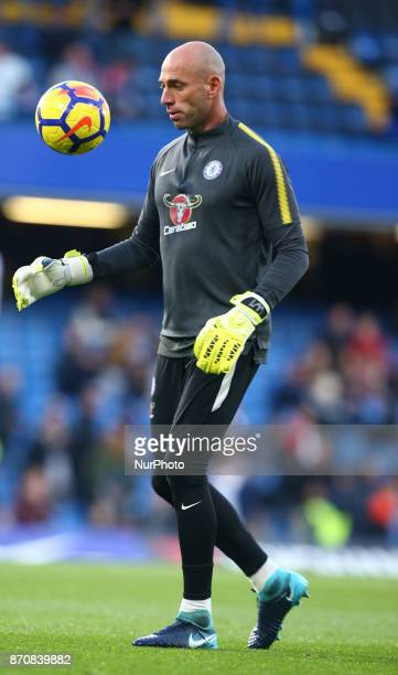 Chelsea's Willy Caballero during the Premier League match between Chelsea and Manchester United at Stamford Bridge London England on 05 Nov 2017