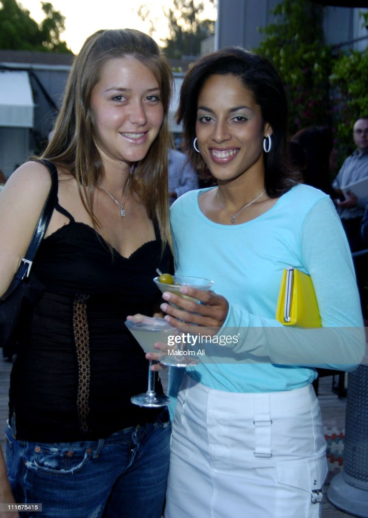 Chelsey Santry and Randa Ham during Fris Vodka Event to unveil Art by Federico Castelluccio at Skybar at the Mondrian Hotel in Hollywood, California, United States.