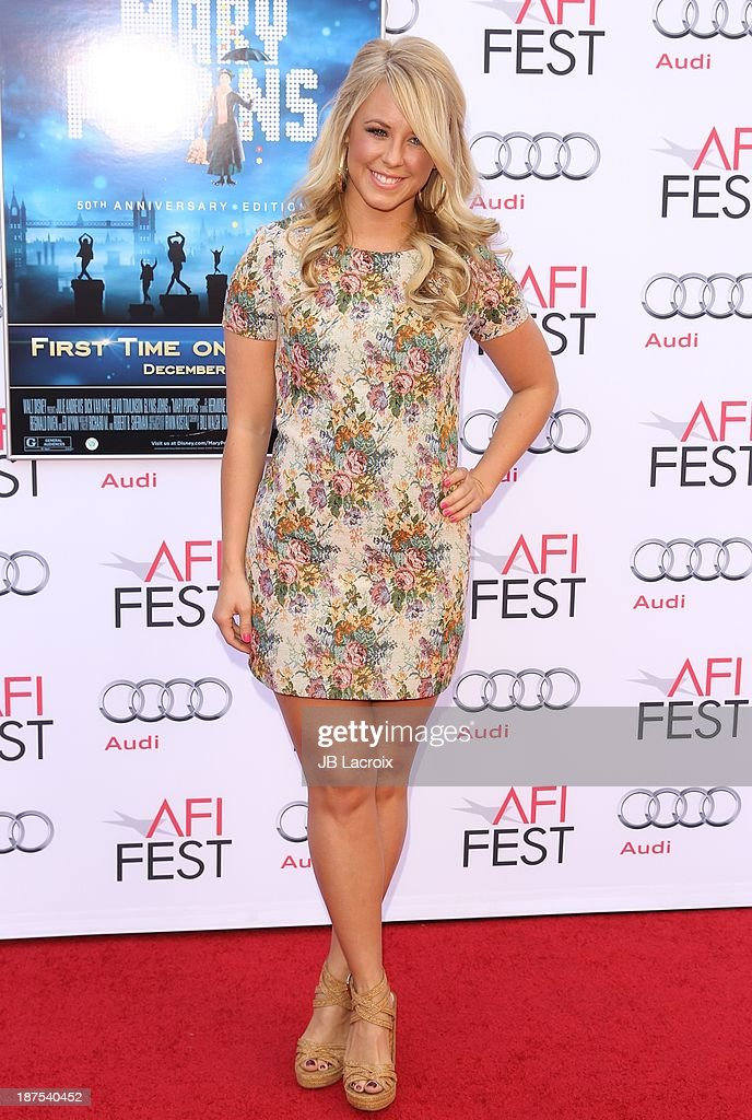<a gi-track='captionPersonalityLinkClicked' href=/galleries/search?phrase=Chelsie+Hightower&family=editorial&specificpeople=5775836 ng-click='$event.stopPropagation()'>Chelsie Hightower</a> attends the AFI FEST 2013 Presented By Audi - 'Mary Poppins' 50th Anniversary Edition held at TCL Chinese Theatre on November 9, 2013 in Hollywood, California.