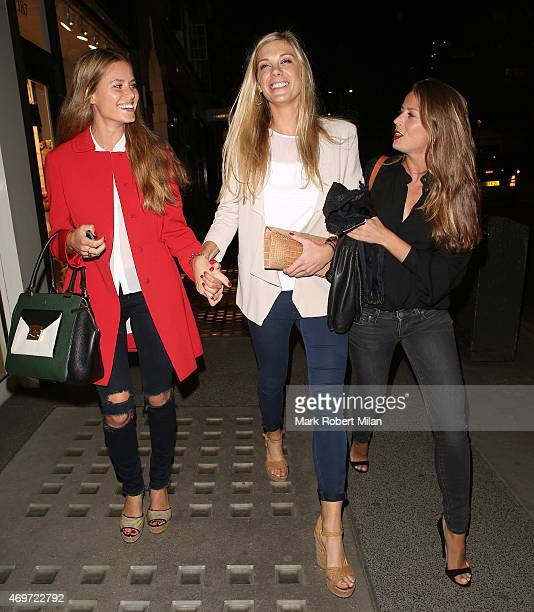 Chelsy Davy attending The Ivy Chelsea Garden Launch Party on April 14 2015 in London England