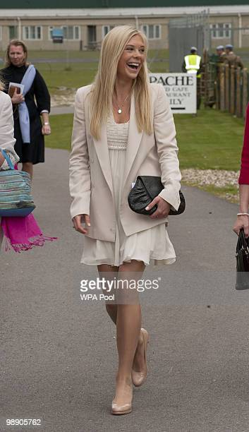 Chelsy Davy attends Prince Harry's Pilot Course Graduation at the Army Aviation Centre on May 7 2010 in Middle Wallop England The Prince of Wales...