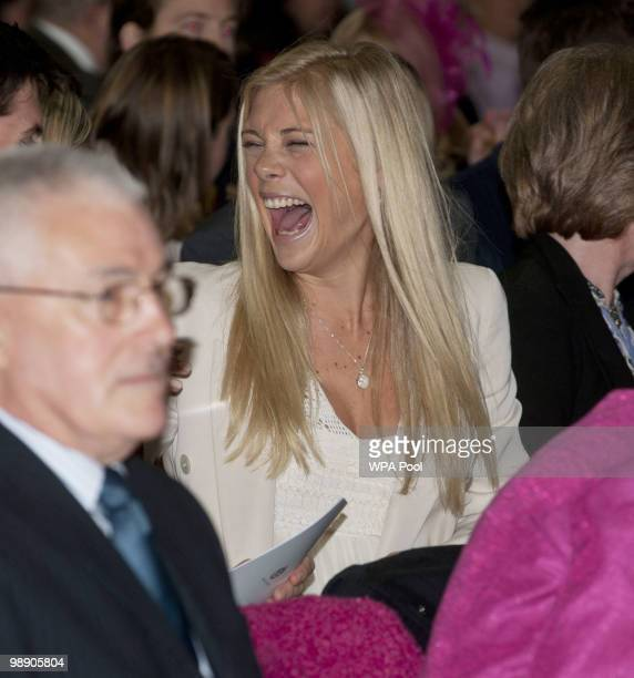 Chelsy Davy during the ceremony for Prince Harry's Pilot Course Graduation at the Army Aviation Centre on May 7 2010 in Middle Wallop England The...