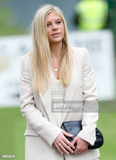 Chelsy Davy leaves after Prince Harry received his flying badges at the Museum of Army Flying on May 7 2010 in Middle Wallop England