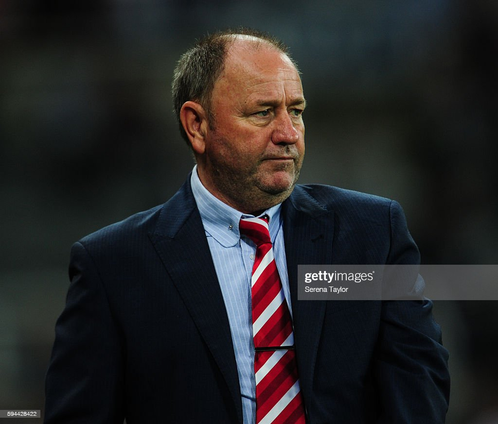 Cheltenham Town Manager Gary Johnson looks disappointed during the EFL cup between Newcastle United and Cheltenham Town at StJames' Park on August 23...