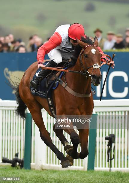 Cheltenham United Kingdom 17 March 2017 Pacha Du Polder with Bryony Frost up on their way to winning the St James's Place Foxhunter Challenge Cup...