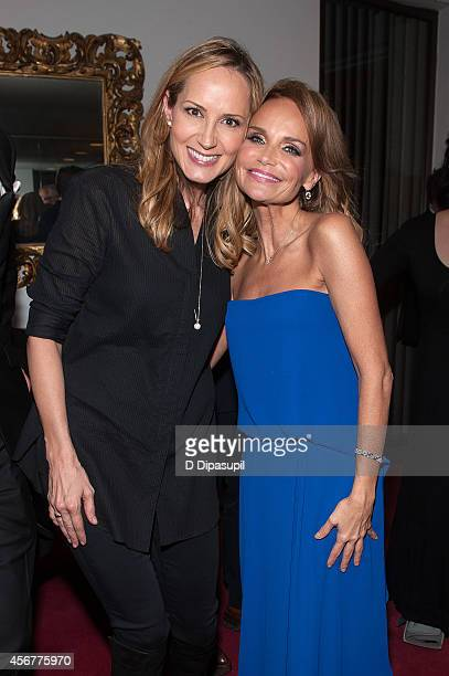 Chely Wright and Kristin Chenoweth pose backstage after the 'I Am Harvey Milk' Benefit Concert at Avery Fisher Hall Lincoln Center on October 6 2014...
