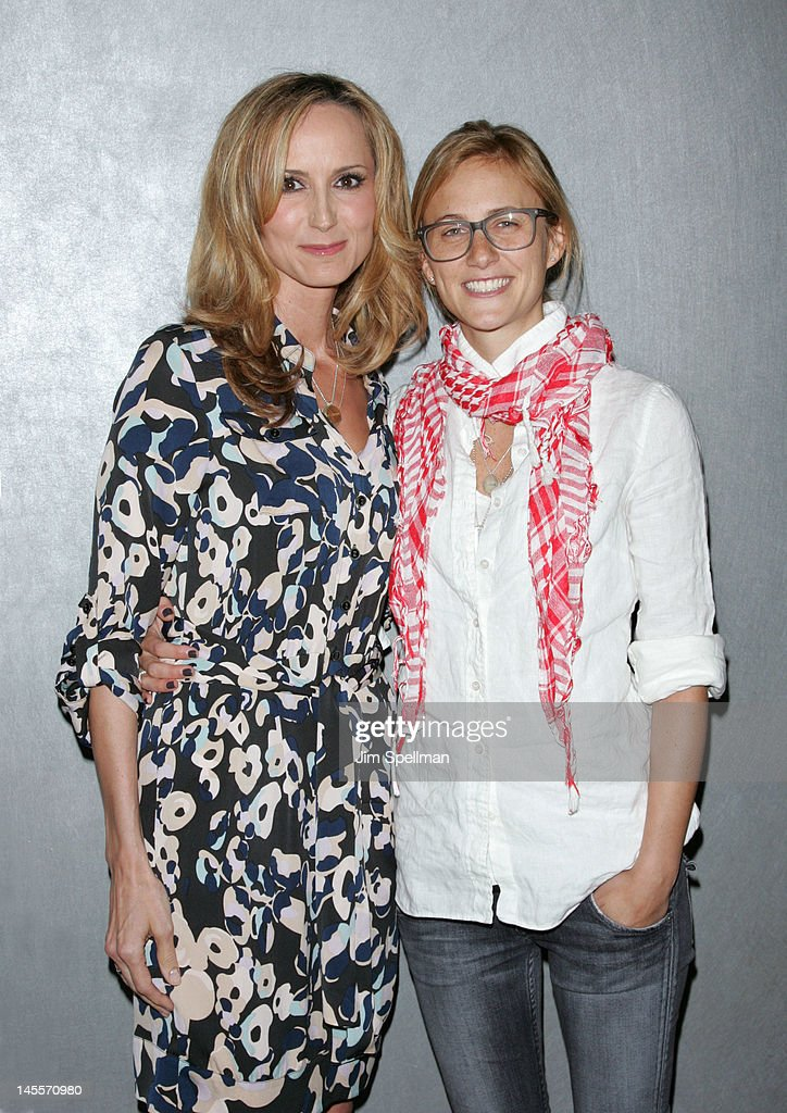 Chely Wright and Lauren Blitzer attend the 'Chely Wright: Wish Me Away' premiere at the Quad Cinema on June 1, 2012 in New York City.