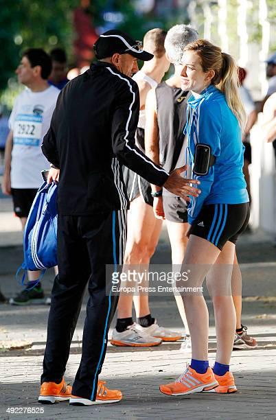 Chema Martinez and Kira Miro attend 35th Carrera del Agua on May 18 2014 in Madrid Spain