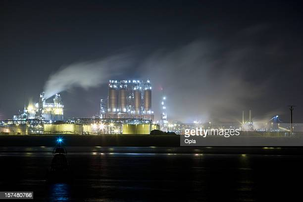 Chemical and petrochemical industry by night