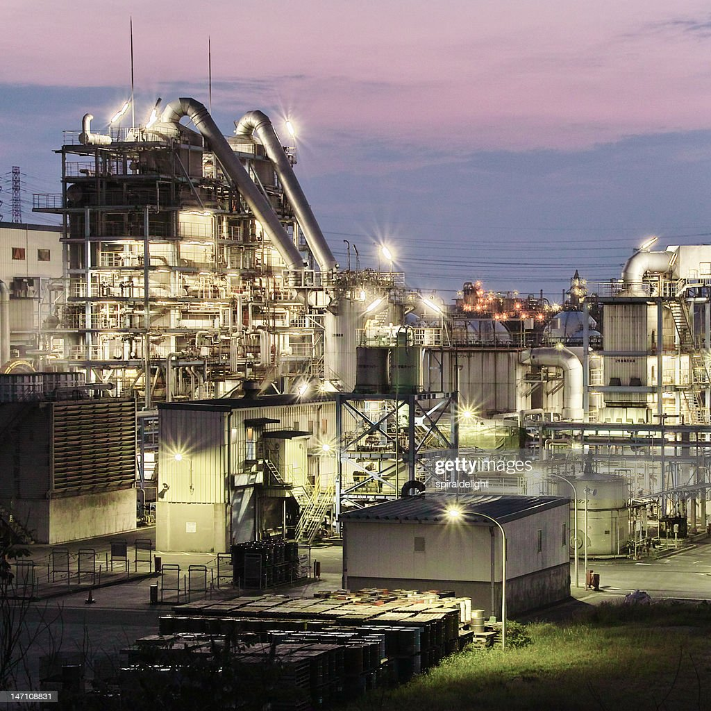 Chemical factory : Stock Photo