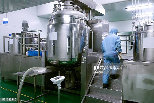 chemical  industry  manufacture equipment and reactors in factory