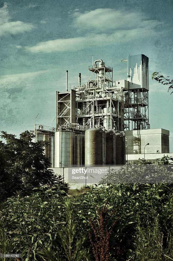 Chemical industry. Vintage style