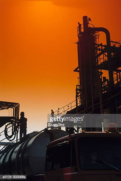 Chemical Plant at Sunset