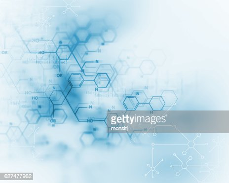 chemical science, medical substance and molecules background ill : Stock Photo