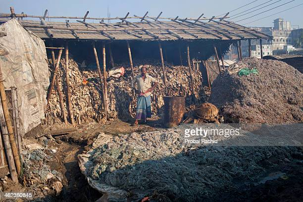 HAZARIBAGH DHAKA BANGLADESH Chemical toxins and lack of labor protection and safety equipment are serious problems in the Hazaribagh leather...