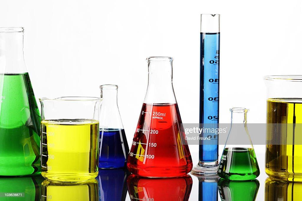 Chemicals in Laboratory Equipment : Stock Photo