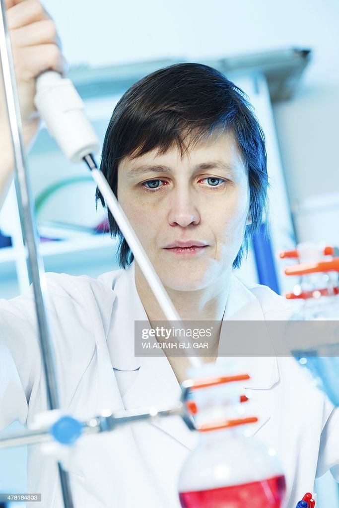 Chemistry experiment : Stock Photo