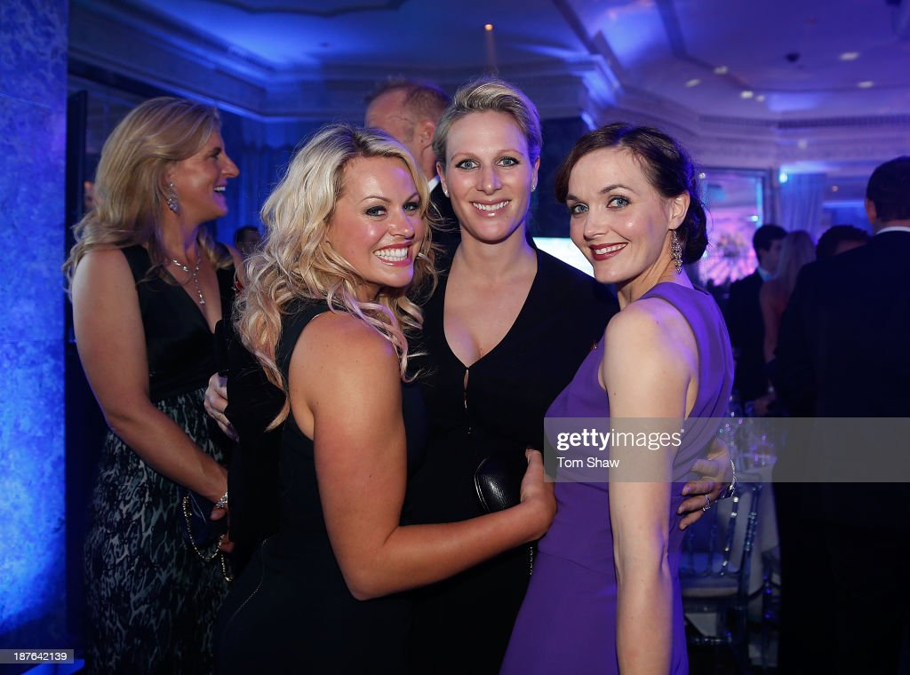 <a gi-track='captionPersonalityLinkClicked' href=/galleries/search?phrase=Chemmy+Alcott&family=editorial&specificpeople=220707 ng-click='$event.stopPropagation()'>Chemmy Alcott</a> of Great Britain, Zara Philips of Great Britain and <a gi-track='captionPersonalityLinkClicked' href=/galleries/search?phrase=Victoria+Pendleton&family=editorial&specificpeople=228525 ng-click='$event.stopPropagation()'>Victoria Pendleton</a> of Great Britain pose for a picture during the British Olympic Ball at The Dorchester on October 30, 2013 in London, England.