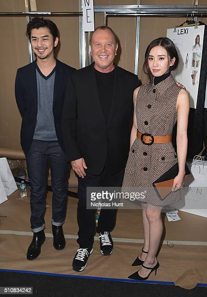 Chen Bolin Designer Michael Kors and Liu Shishi pose backstage at the Michael Kors Fall 2016 Runway Show during New York Fashion Week The Shows at...