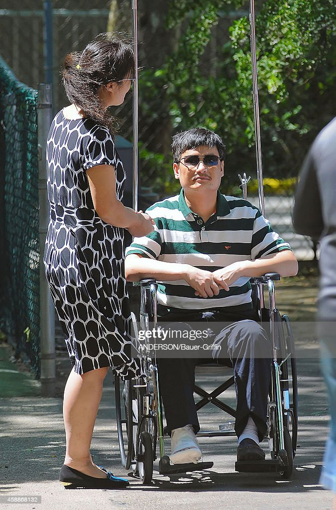 Chen Guangcheng and his wife Yuan Weijing are seen on May 20 2012 in New York City