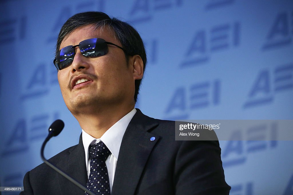 Chen Guangcheng blind Chinese lawyer human rights activist and senior fellow in human rights at the Witherspoon Institute speaks during a discussion...