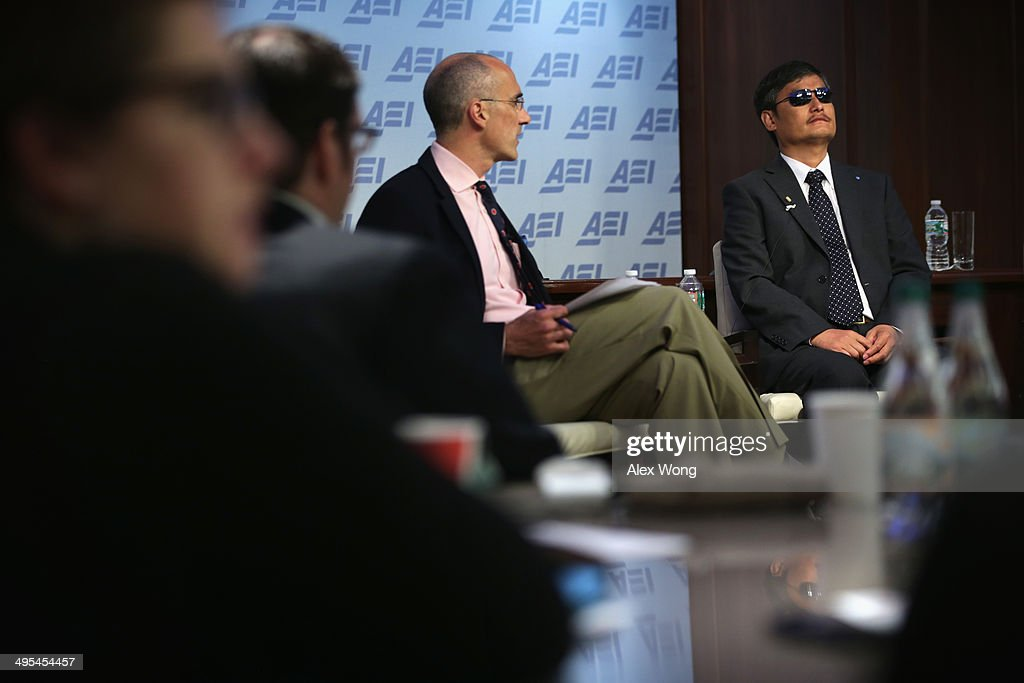 Chen Guangcheng blind Chinese lawyer human rights activist and senior fellow in human rights at the Witherspoon Institute joins AEI President Arthur...