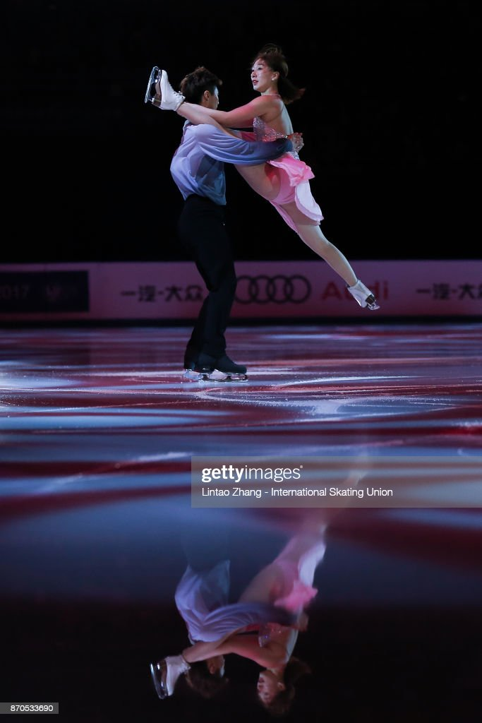 Chen Hong and Zhao Yan of China performs during the Exhibition Program on day three of Audi Cup of China ISU Grand Prix of Figure Skating 2017 at Beijing Capital Gymnasium on November 5, 2017 in Beijing, China.