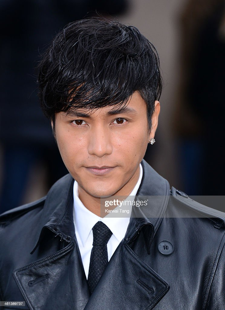 Chen Kun attends the Burberry Prorsum show during The London Collections: Men Autumn/Winter 2014 held at Kensington Gardens on January 8, 2014 in London, England.