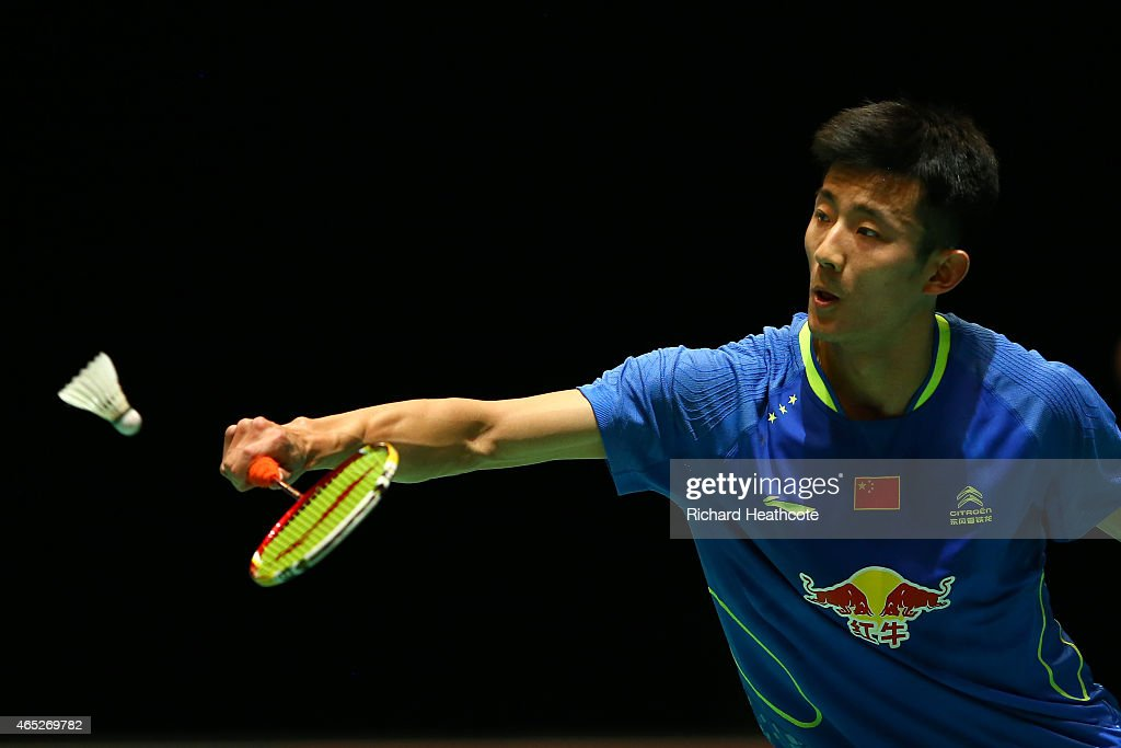 <a gi-track='captionPersonalityLinkClicked' href=/galleries/search?phrase=Chen+Long+-+Badminton+Player&family=editorial&specificpeople=9613842 ng-click='$event.stopPropagation()'>Chen Long</a> of China in action on his way to winning his men's singles match against Hsu Jen Hao of Chinese Taipei during day three of YONEX All England Open Badminton Championships at Birmingham Barclaycard Arena on March 5, 2015 in Birmingham, England.