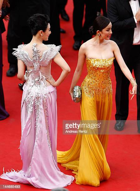 Chen Tingjia and Yang Mi attend the 'De Rouille et D'os' Premiere during the 65th Annual Cannes Film Festival at Palais des Festivals on May 17 2012...