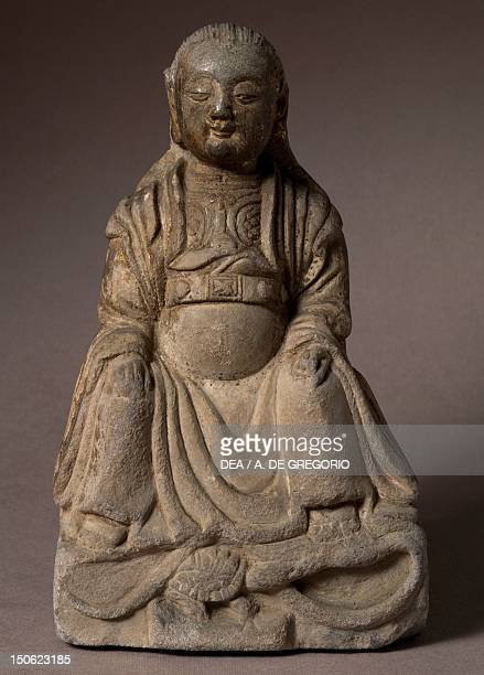 Chen Wu lord of the Ursa Major stone statue with gilding China Chinese Civilisation late Yuan Dynasty or early Ming Dynasty 13th14th century