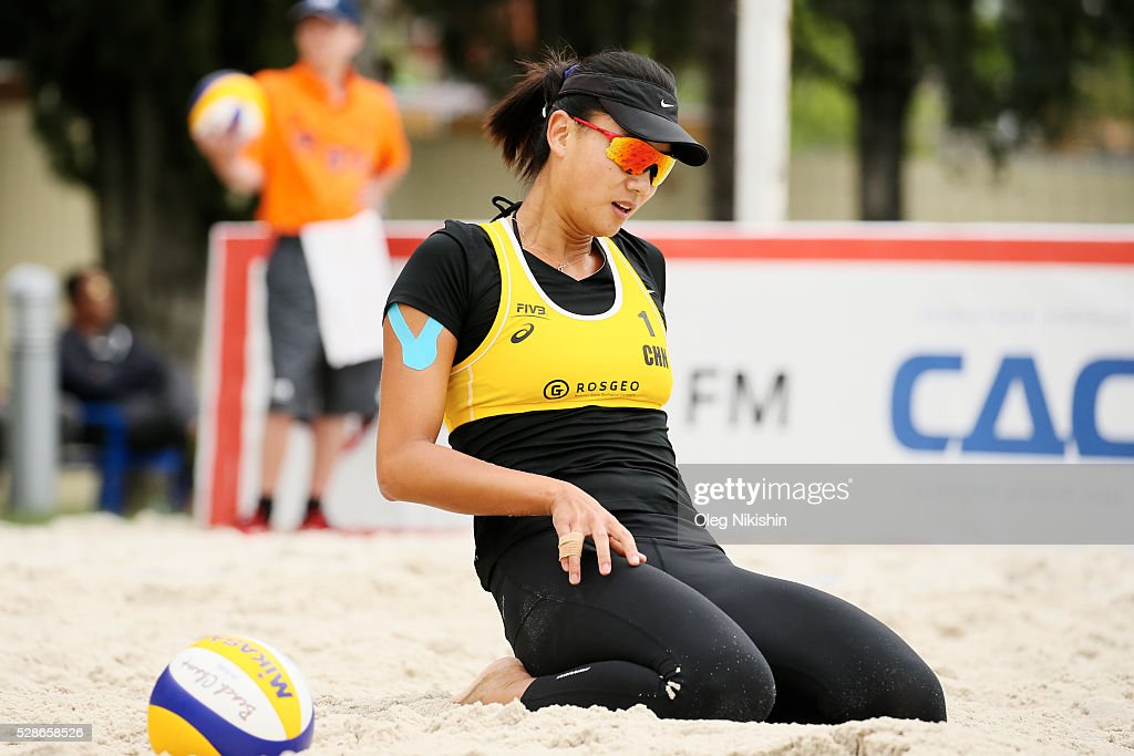 Chen Xue of China during day 4 of FIVB Sochi Open presented by VTB on May 6, 2016 in Sochi, Russia.