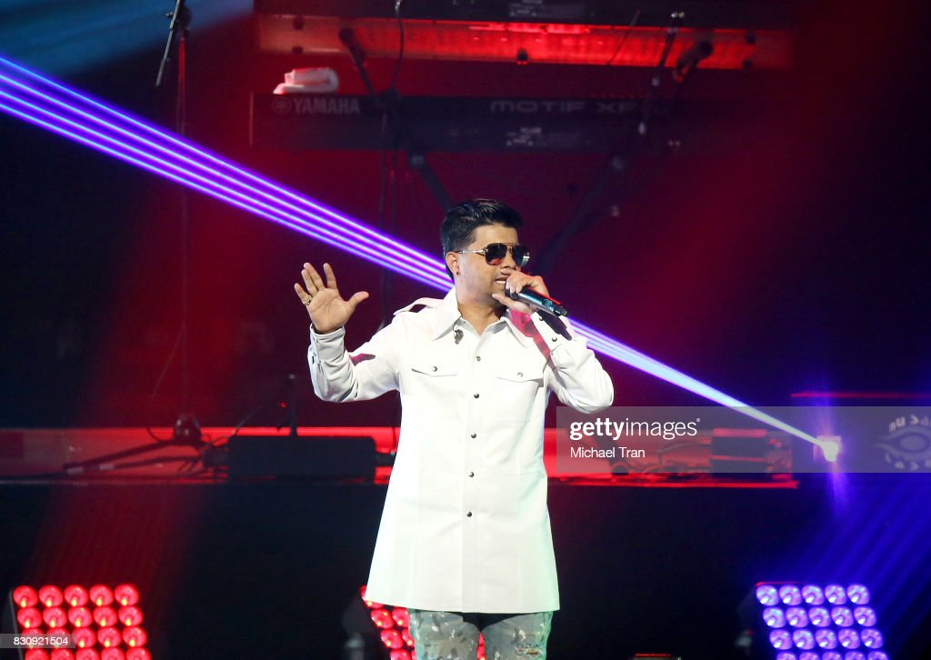 Chencho of Plan B performs onstage during the 2017 El Ganador US Tour held at Microsoft Theater on August 12, 2017 in Los Angeles, California.