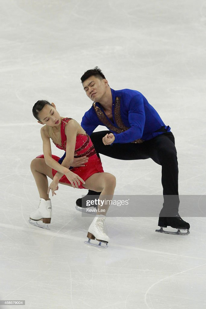 Cheng Peng and Hao Zhang of China competes in pair short program during Lexus Cup of China 2014 on November 7, 2014 in Shanghai, China.