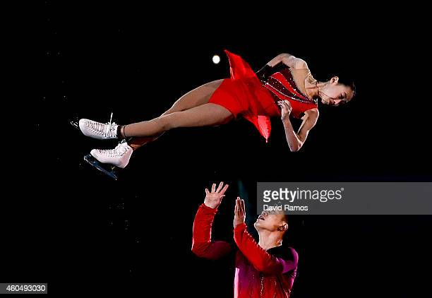 Cheng Peng and Hao Zhang of China perform during day four of the ISU Grand Prix of Figure Skating Final 2014/2015 at Barcelona International...