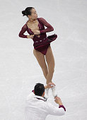 Cheng Peng and Hao Zhang of China perform during the Pairs Free Skating on day three of the ISU Four Continents Figure Skating Championships 2015 at...