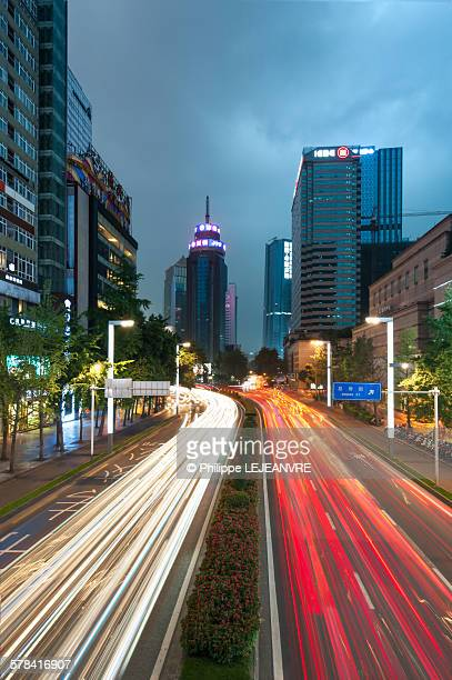 Chengdu - Chunxi road - light trails