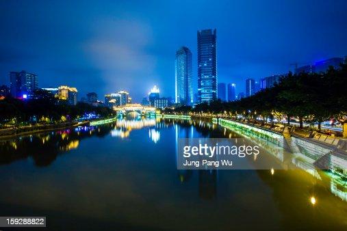Chengdu City at Night