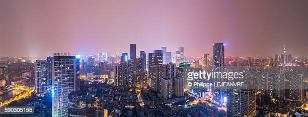 Chengdu skyline panorama