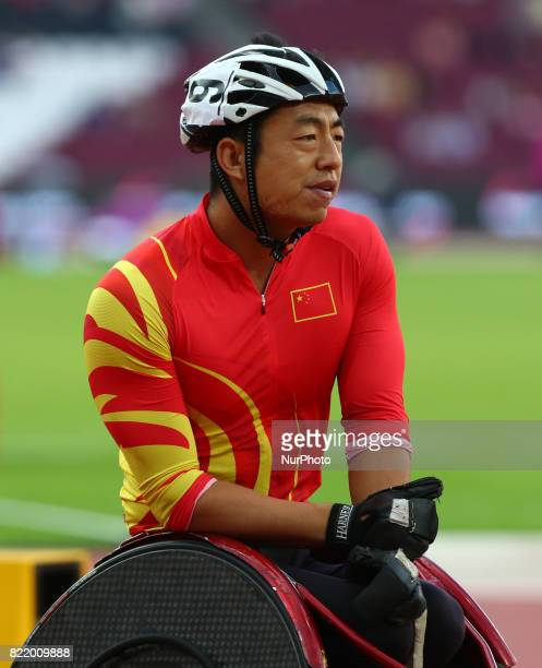 Chengming Liu of China compete Men's 800m T54 Final during World Para Athletics Championships at London Stadium in London on July 21 2017