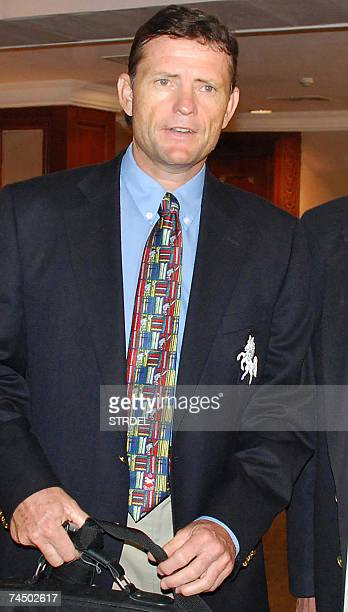 India's newlyappointed cricket team coach Graham Ford arrives for a meeting with the Board of Control for Cricket in India in Chennai 09 June 2007...