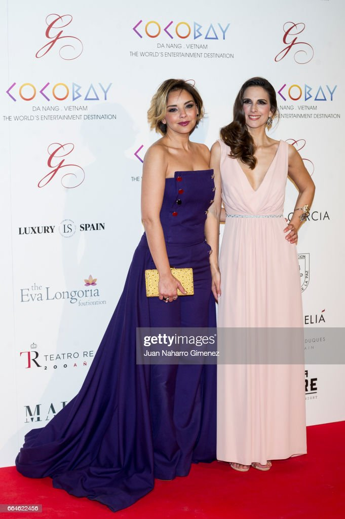 Chenoa (L) and Nuria Fergo (R) attend the Global Gift Gala 2017 at the Royal Teather on April 4, 2017 in Madrid, Spain.