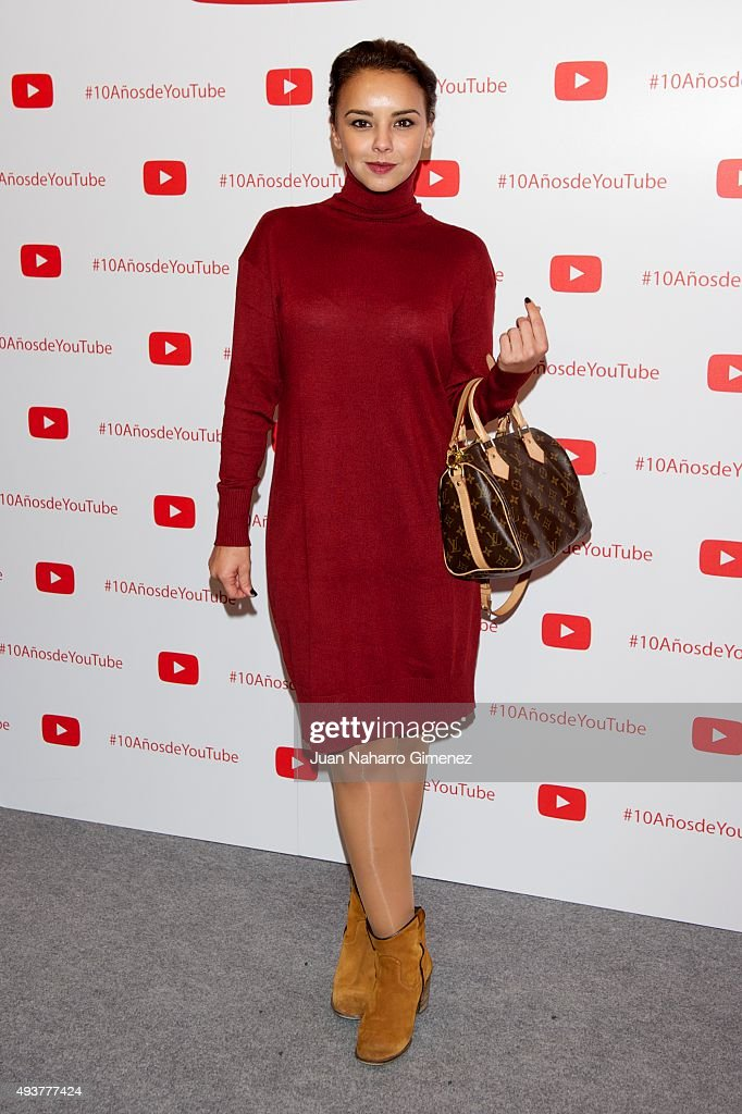 Chenoa attends YouTube 10th Anniversary Gala at Giner de los Rios Foundation on October 22, 2015 in Madrid, Spain.