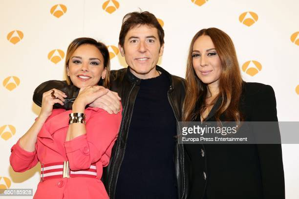 Chenoa Manel Fuentes and Monica Naranjo attend the presentation of 'Tu cara no me suena todavia' on March 8 2017 in Madrid Spain