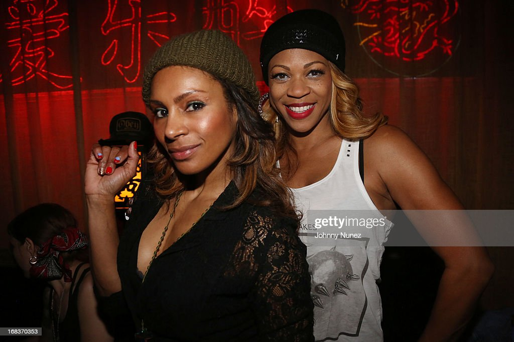 Chenoa Maxwell and DJ Eque attend the Talib Kweli Album Release Party at Mister H on May 8, 2013 in New York City.