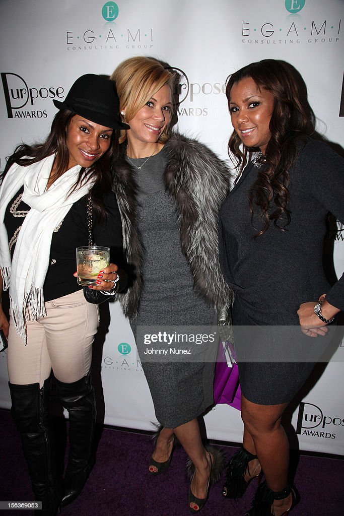 Chenoa Maxwell, Erika Liles, and Melissa Imani attend the 2012 EGAMI Consulting Group Purpose Awards at Beauty & Essex on November 13, 2012 in New York City.